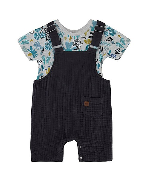 Baby Boys Ash Dungi Set -  graphite