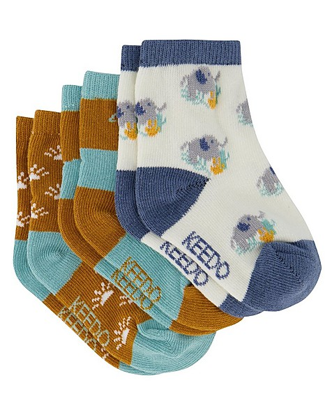 Baby Boys 3-Pack Life is Good Socks -  assorted