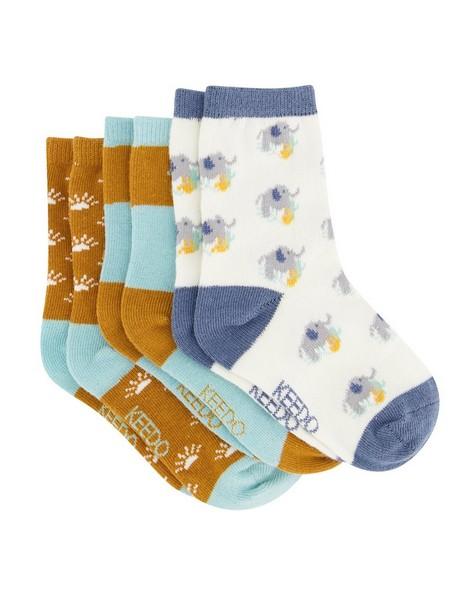 Boys 3-Pack Life is Good Socks -  assorted