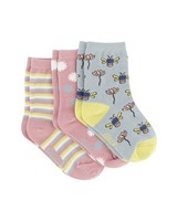 Girls 3-Pack Nature Socks -  assorted