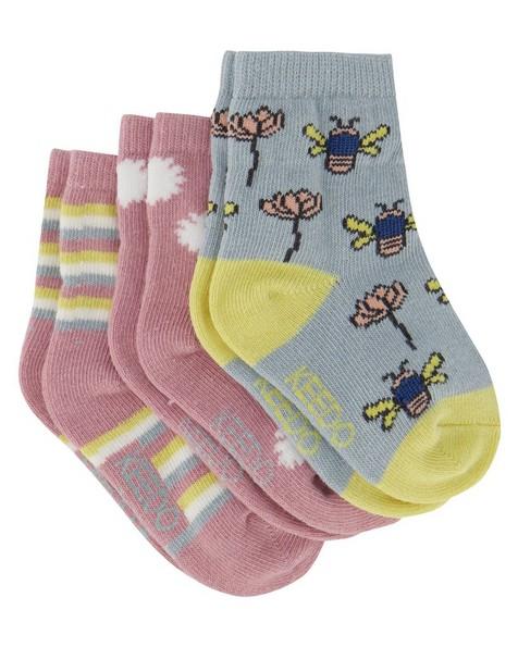 Baby Girls 3-Pack Nature Socks -  assorted