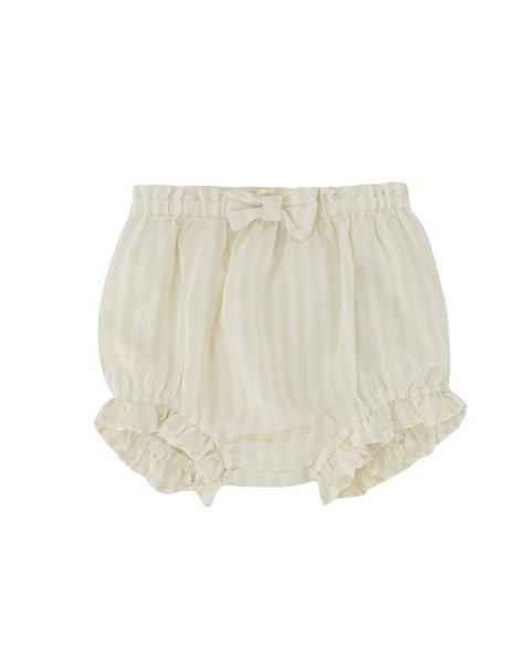 Baby Girls Stone Stripe Bow Bloomer -  milk