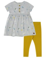 Baby Girls Cloud Dress Set -  silvergrey