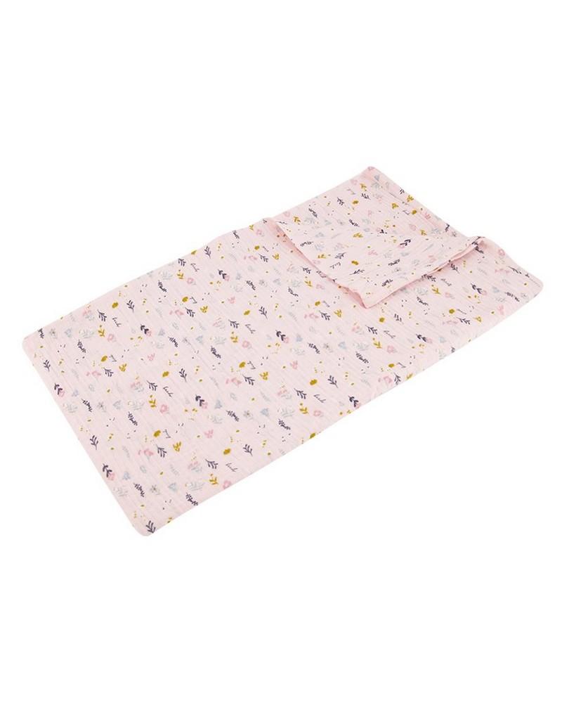 Baby Girls Vertical Ditsy Blanket -  palepink
