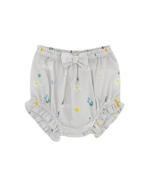 Baby Girls Cloud Bow Bloomer -  silvergrey