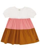 Baby Girls Colourblock Poplin Dress -  assorted