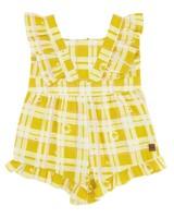 Baby Girls Daisy Checkered Grow -  eggyellow
