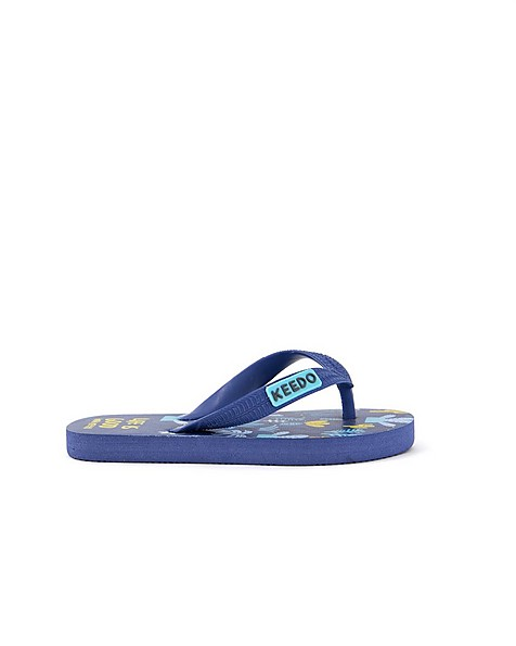 Boys Life is Good Flip Flops -  midblue