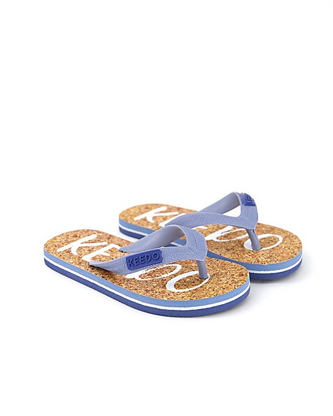 Boys Logo Flip Flops -  brown