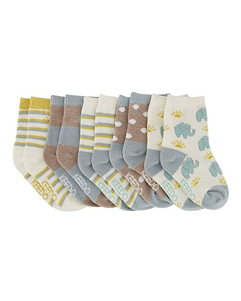 Babies 5-Pack Adventure Socks -  assorted