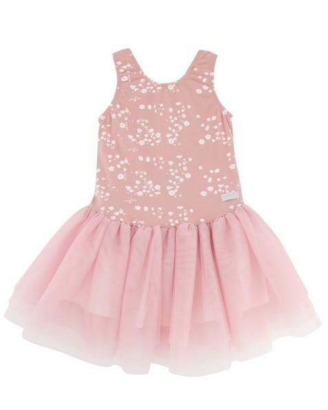 Girls Ditsy Tutu Dress -  dustypink