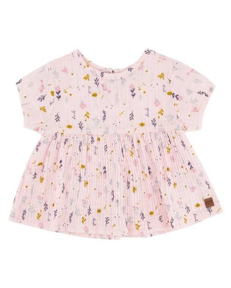 Baby Girls Vertical Ditsy Bloomer Set -  palepink