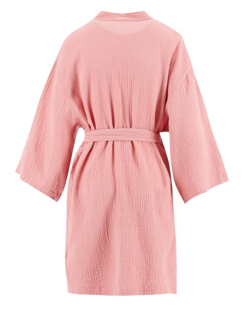 Mom Lily Kimono Gown -  dustypink
