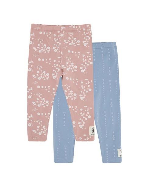 Baby Girls 2-Pack Cluster Ditsy Leggings -  dustypink