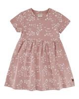 Girls Cluster Ditsy Dress Set -  dustypink