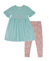 Girls Harbour Dress Set -  duck-egg