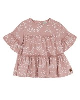 Girls Cluster Ditsy Tiered Top -  dustypink