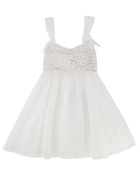 Baby Girls Louise Crochet Set -  white
