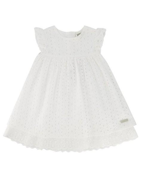 Baby Girls Sammy Anglaise Dress -  white