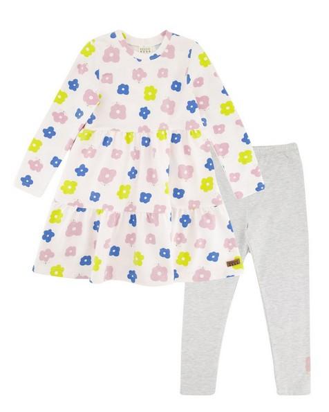 Girls Kaia Dress Set -  milk
