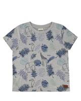 Boys Contour Animal T-Shirt -  silvergrey