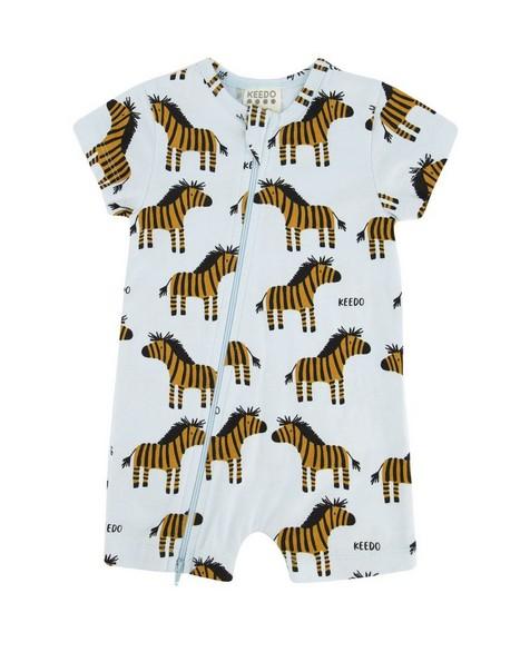 Baby Boys Zebra PJ Grow -  lightblue