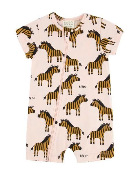 Baby Girls Zebra PJ Grow -  white