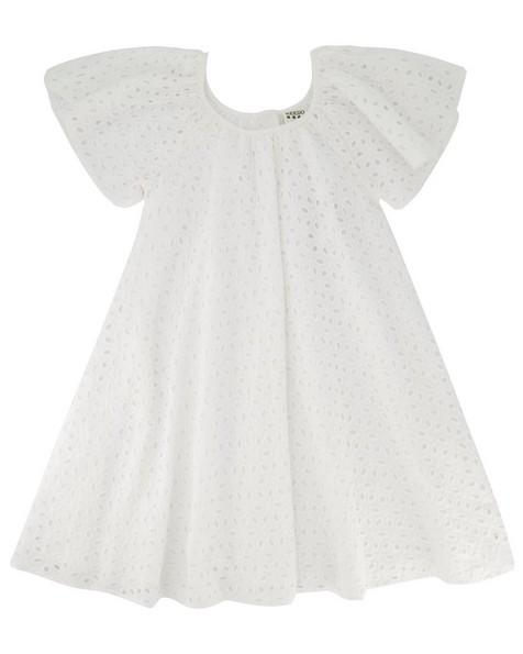 Girls Cora Anglaise Dress -  white