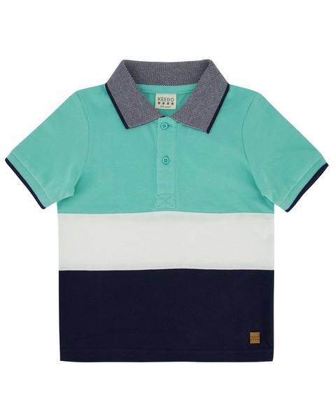 Boys Colourblock Golfer -  aqua