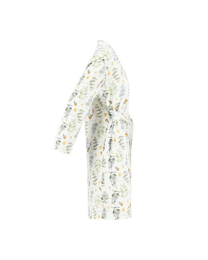 Mom Willow Wrap Gown -  milk