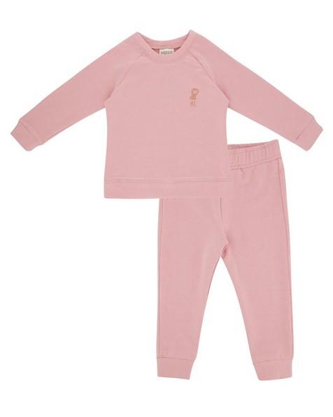 Baby Girls Mini Coral Blush Tracksuit -  pink