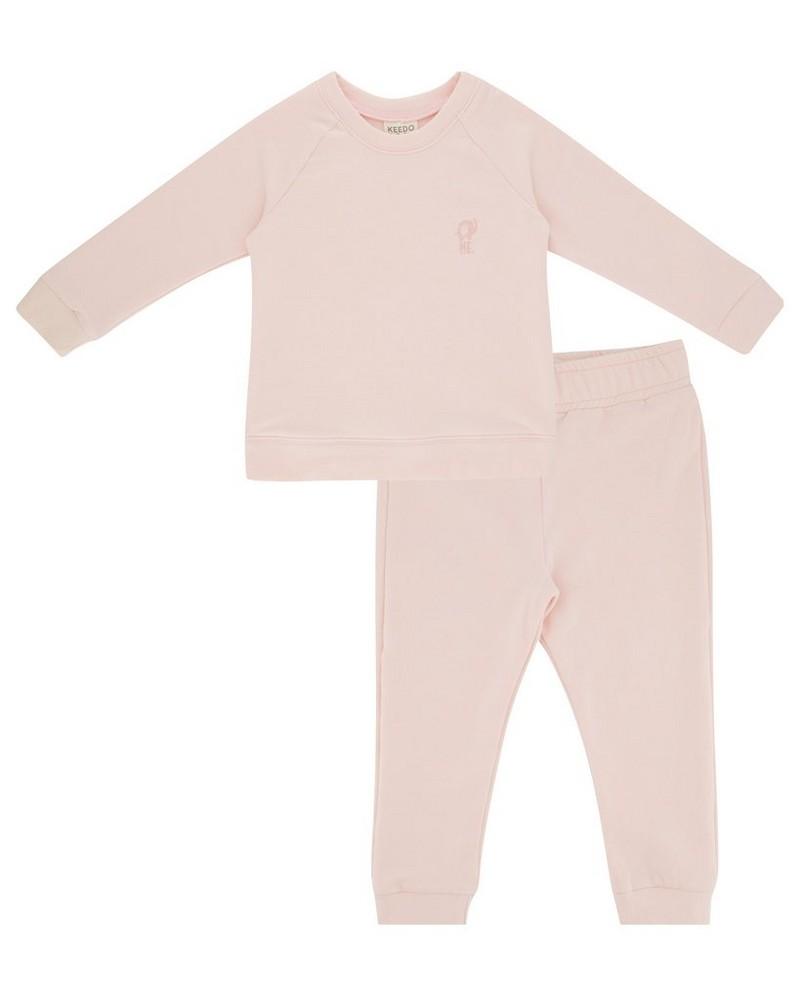 Baby Girls Mini Rose Water Tracksuit -  light-pink