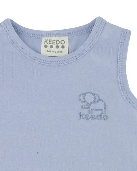 Babies 2-Pack Skyway Grow Vests  -  cloudblue