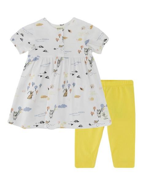 Baby Girls Favourite Day Dress Set -  white