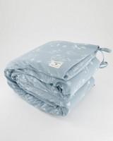 Blue Cot Bumper -  blue