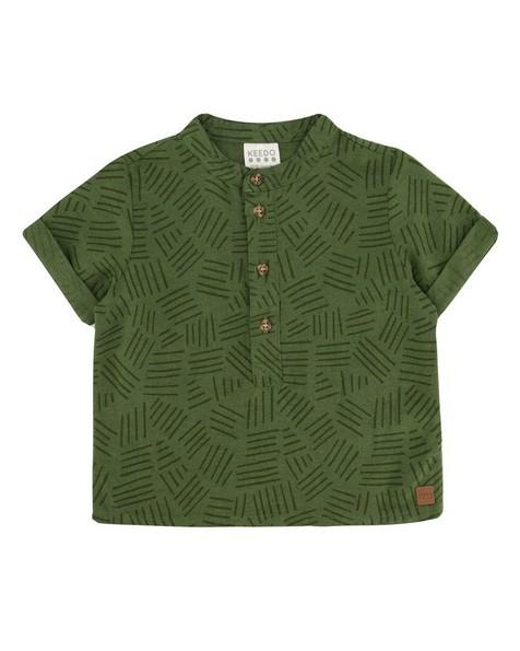 Baby Boys Tanner Henley Shirt -  fatigue