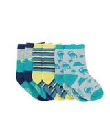 Boys 3-Pack Dino Socks -  assorted