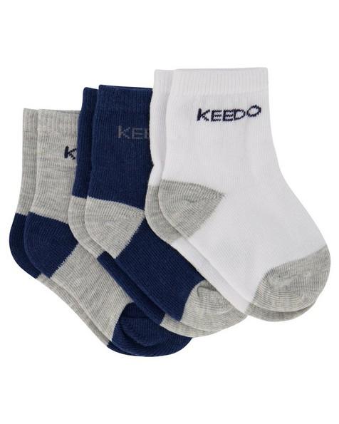 Baby Boys 3-Pack Basic Socks -  assorted