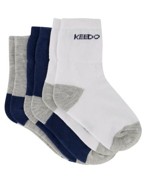 Boys 3-Pack Basic Socks -  assorted