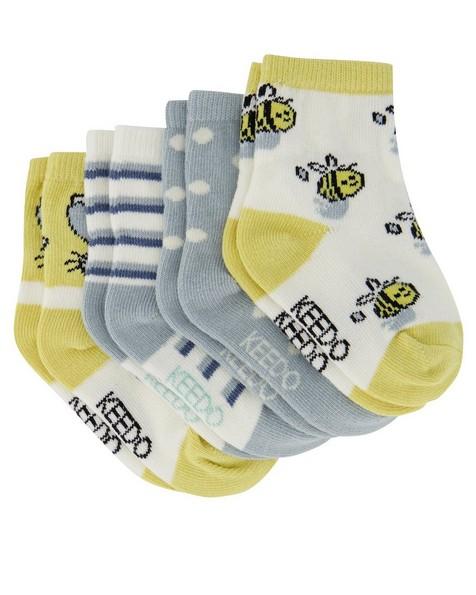 Babies 4-Pack Garden Friends Socks -  assorted