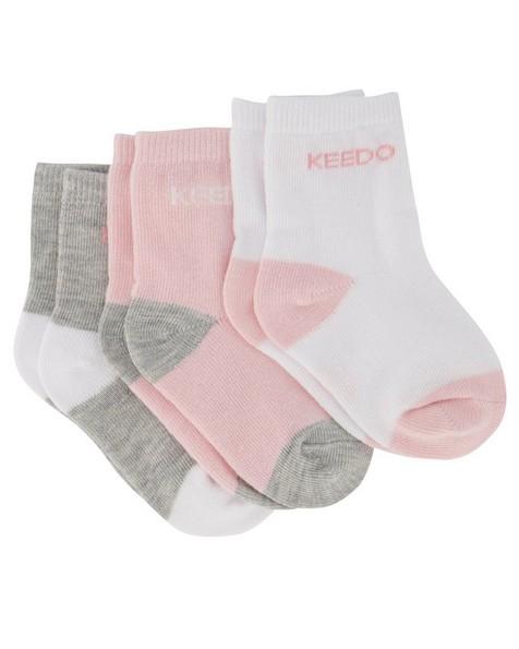 Baby Girls 3-Pack Basic Socks -  assorted