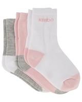 Girls 3-Pack Basic Socks -  assorted