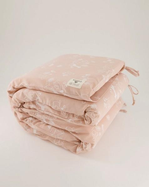 Pink Cot Bumper -  pink