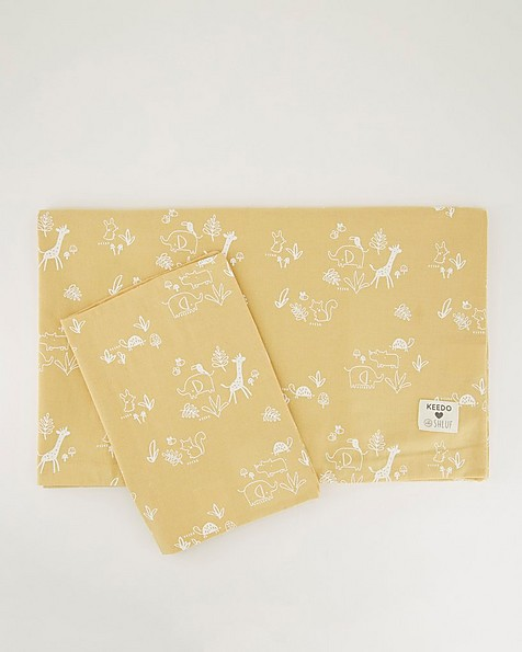 Mustard Duvet Cover & Pillowcase -  yellow