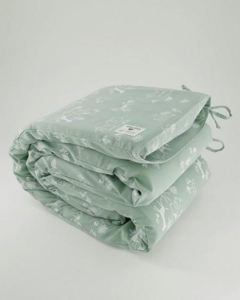 Sage Cot Bumper -  green
