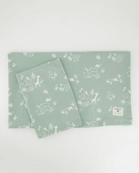 Sage Duvet Cover & Pillowcase -  green