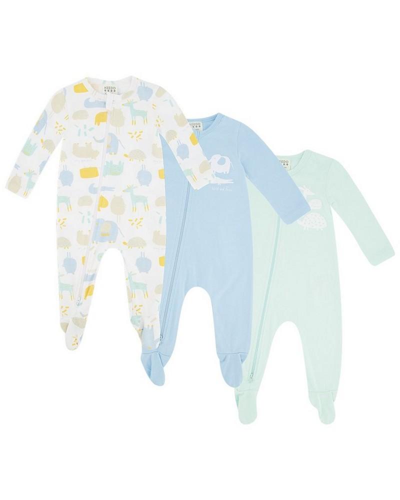 Baby Boys Skies of Blue 3-Pack Growers -  assorted