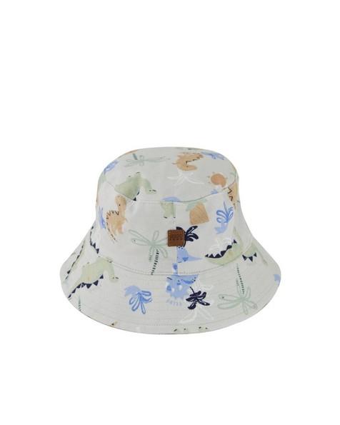 Baby Boys Scribble Dino Bucket Hat -  bone
