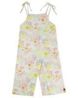 Girls Meadow Tie Jumpsuit -  white