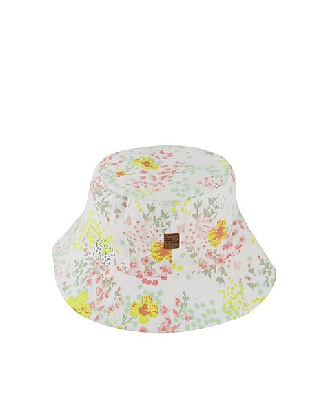 Baby Girls Meadow Bucket Hat -  white